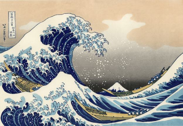 The Great Wave, woodcut